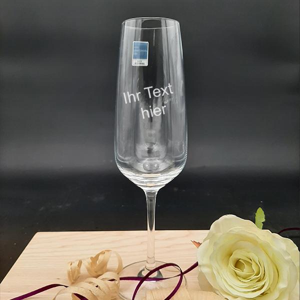Sekt glass Gravur